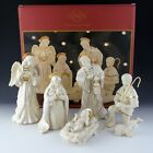 Lenox China Nativity INNOCENCE 6 Piece Set Holy Family Angel Shepherd Sheep