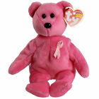 TY Beanie Baby AWARE Bear Breast Cancer Awareness Bear MWMT Collectors Quality