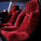 1x Universal Multicolor Cashmere Long Wool Car Front Seat Cover Cushion Mat