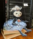 Halloween Goth Art Collectible Doll. Handmade Halloween OOAK. Olivia Bones