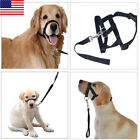 US Dog Muzzle Halti Style Head Collar Stop Pulling Halter Training Reign Leashes