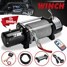 13000lbs 12V Electric Recovery Winch Truck SUV Wireless Remote Control