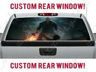 Friday The 13th Jason Masked Figure Rear Truck Perforated Vinyl Window Decal