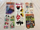 Disney Mickey Mouse Frozen Halloween Stickers Gift Tags NEW Minnie Wall Decals