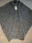 Brand New Womens Zara Puncho/Cape Cardigan Wool Mix Size M