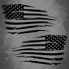 Distressed US American Flag Vinyl Car Decal Sticker Jeep Hood USA Window Grunge