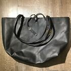 BCBG Black Leather Tote With Tan Interior. Travel Bag Or Daily Handbag!
