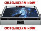 Mystical Glowing Dog Wolf Magical Creatures Truck Pickup Perforated Window Decal