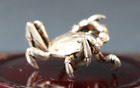 China FengShui Tibet silver Palace Auspicious Bring Fine Wealth Crab Statue