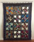 Vintage Bow Tie Quilt, One of a kind, Very Colorful