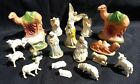 OLD VINTAGE ITALY GERMANY MANGER NATIVITY FIGURES SET 18 pieces paper mache plus