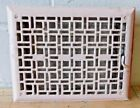 1900's Metal FLOOR REGISTER Vent / Grate - CRAFTSMAN Mission Style ORNATE