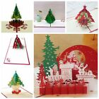 3D Pop Up Christmas Cards Handmade Holiday Greeting Card Postcard Family Xmas