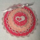 Valentine victorian ornament, beaded, heart, christmas, easter, love