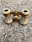 French mother of pearl and brass binoculars