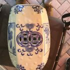 VINTAGE OR ANTIQUE GARDEN SEAT, CHINESE BLUE AND WHITE.
