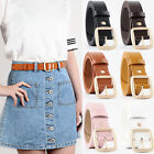 Womens Jeans Waistband Vintage Waist Strap Leather Buckle Belt Casual Dress