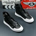Mens Ankle Boots Sport Sneakers High Top Athletic Trainers Lace Up Shoes Fashion