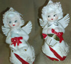 XMAS Christmas Angels Salt and Pepper Shakers Missing Stoppers