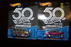 HOT WHEELS FAVORITES 1955 CHEVY GASSER AND VW DRAG BUS