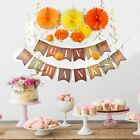 Thanksgiving Party Decoration Set 24 pieces Give Thanks Banner fall colors