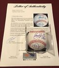 Mike Trout Bryce Harper Dual Signed Baseball ROMLB BAS & PSA DNA LOA RARE !