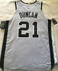 Tim Duncan San Antonio Spurs authentic Nike game model 2014-2016 gray jersey NWT