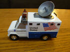 NASA Command Unit United States Die Cast Ambulance Van Vehicle Rare W Satellite