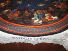 Cranston Nativity Quilted Fabric Panel Christmas Tree Skirt + 2 4 Stockings 56