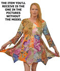 Nwt FUNKY STUFF patch floral gypsy hanky cotton TOP TUNIC DRESS 4X 30W Free ship