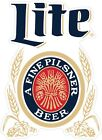 Miller Lite Fine Pilsner Beer Color Die Cut Vinyl Decal You Choose Size 2 38