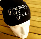 GRUMPY OLD GIT! Beanie FUNNY Dad Christmas Daddy GIFTS for men SECRET SANTA HAT
