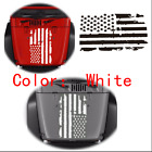 Distressed USA Flag Style Window Hood Sticker For Jeep Wrangler SUV Decoration