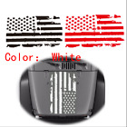 Universal 20 x 35 Distressed USA Flag Hood Sticker Decal For Jeep Hummer Rover