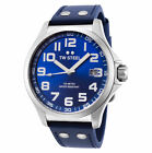 TW Steel TW400 Men's Pilot 45mm Stainless Steel Blue Dial Blue Leather Watch