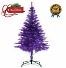 6 Ft 450tips Sparking Gorgeous Folding Artificial Tinsel Purple Christmas Tree