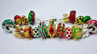 Christmas trees European Murano glass and 3 Pugster beads crystals bracelet