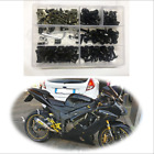 198 Pcs Motorcycle Fairing Bolts Screws Retainer Fastener Clips Nylon Washer Kit