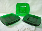 Forest Green--Square--SAUCERS ONLY--[7]--Anchor Hocking- Vintage/Original