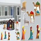 Christmas Decorations Outdoor Nativity Scene 8 Pc Set Holiday Lawn Yard Sign