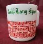 TOM and JERRY Christmas Punch Cup AULD LANG SYNE Coffee Mug ~ Hazel Atlas