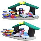Christmas Inflatable Nativity Scene with Three Kings Indoor Outdoor Decorations