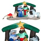 Inflatable Nativity Scene Outdoor Holy Family Yard Seasonal Christmas Decoration