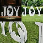 Christmas Joy Nativity Scene Yard Sign Outdoor Holiday Seasonal Decorations