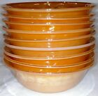 set of 9 Fire King Peach Lustre Laurel Leaf dessert berry bowls 4 7/8