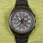 HEUER 1985 510.502 LEMANIA 5100 OLIVE GREEN PVD RARE 41MM AUTOMATIC CHRONOGRAPH