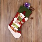 Christmas Stocking 3D Holiday Presents Gifts Cartoon Snowman Stocking Decor 18in
