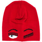 CHIARA FERRAGNI WOMEN'S WOOL BEANIE HAT NEW FLIRTING RED B9D