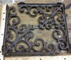 2 Shelf Brackets Brace Cast Iron Rustic Vintage Antique Style 9-1/2x9-1/2 Wall