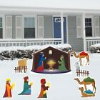 Outdoor Christmas Yard Decorations Set Nativity Scene Xmas 8 Pcs Porch Decor